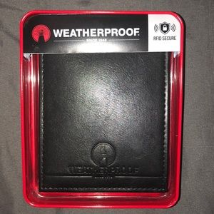 Black Leather Wallet - Weatherproof